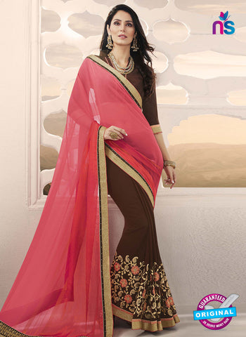 RT 14652 Brown Party Wear Saree