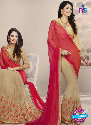 RT 14654 Beige Party Wear Saree