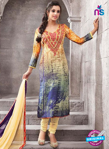 Kesari 1466 Light Yellow Cotton Fomal Suit