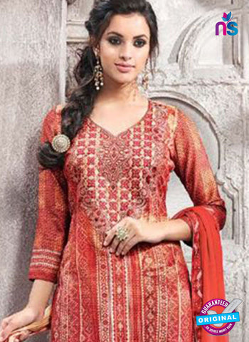 Kesari 1469 Red Cotton Fomal Suit