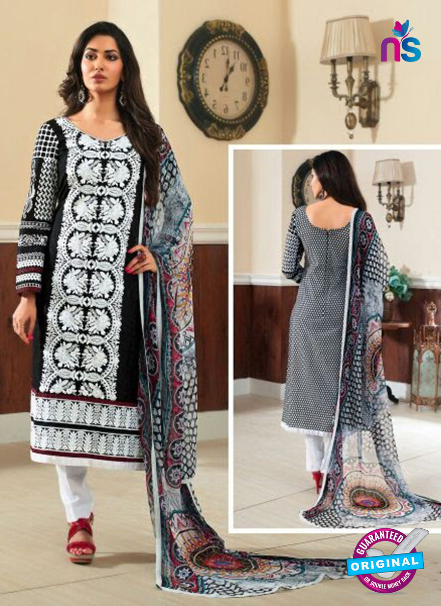 Rivaa14701A Black & White Color Cotton Designer Suit