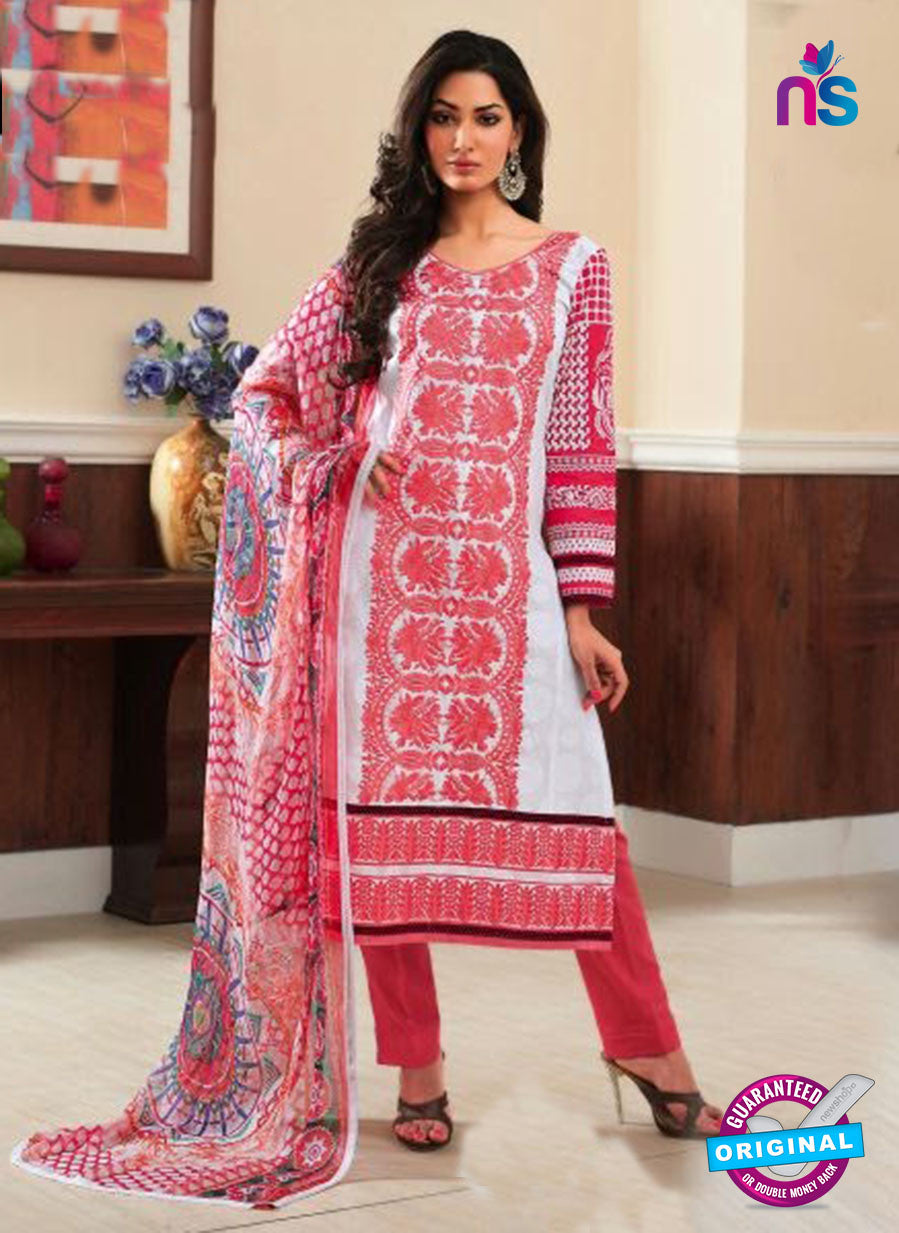 Rivaa14701B Red & White Color Cotton Designer Suit