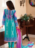 Rivaa14702A Pink & SkyBlue Color Cotton Designer Suit
