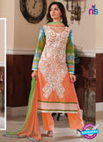 Rivaa14702B Orange & Green Color Cotton Designer Suit