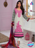 Rivaa14703A White & Pink Color Cotton Designer Suit
