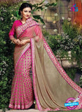 SC 12331 Beige and Pink Designer Georgette Saree