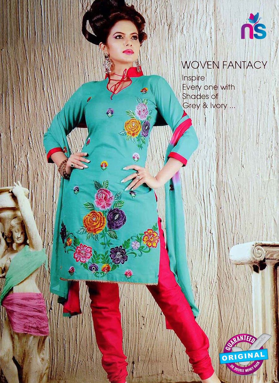 NS10623 Sky Blue and Pink Cotton Suit