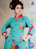 NS10623 Sky Blue and Red Cotton Suit