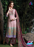 SC 13712 Pink and Multicolor Glace Cotton Designer Exclusive Fancy Un-stitched Straight Plazo Suit