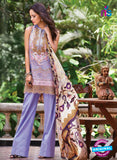 SC 13802 Purple Lawn Designer Fancy Traditional Plazo Suit