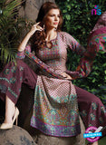 SC 13712 Pink and Multicolor Glace Cotton Designer Exclusive Fancy Un-stitched Straight Plazo Suit Online