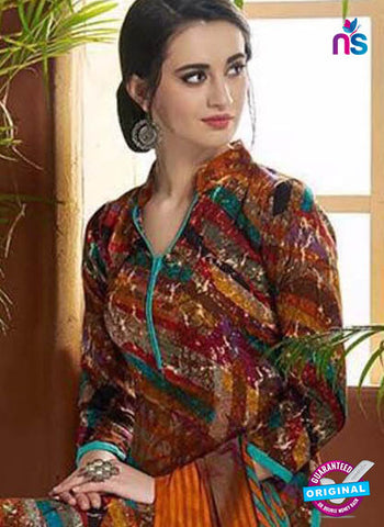 SC 42446 Multicolor Printed Cotton Suit