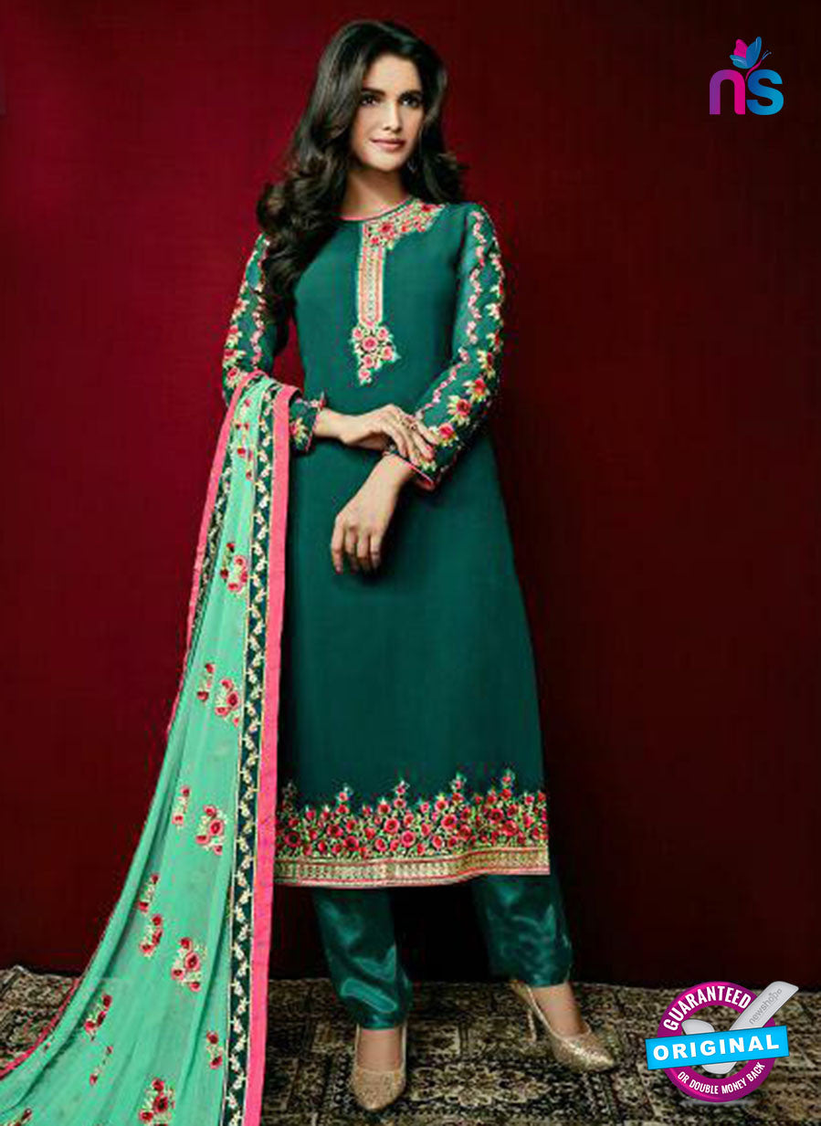Arihant 15001 Green Faux Georgette Party Wear Suit