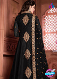 silk party wear anarkali suit