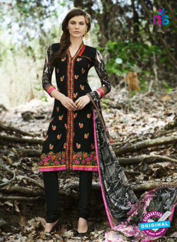 Bellisa 15002 Black and Multicolor Faux Georgette Party Wear Suit