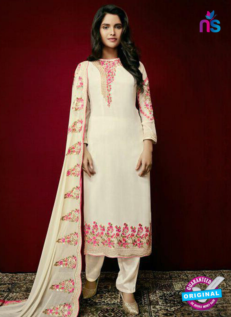 Arihant 15002 Beige Faux Georgette Party Wear Suit