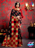 AZ 3629 Black Cotton Silk Formal Saree