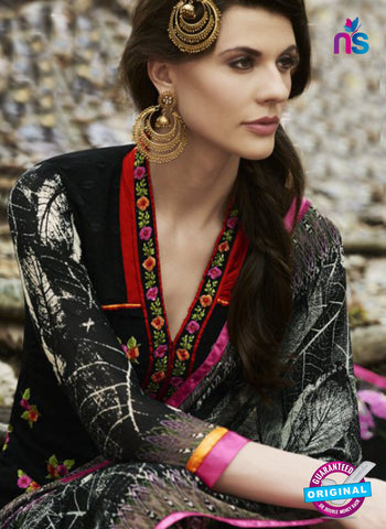 Bellisa 15002 Black and Multicolor Faux Georgette Party Wear Suit Online