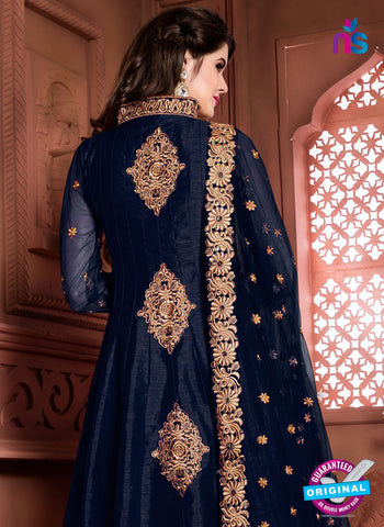 AZ 3956 Blue Banglori Silk Party Wear Anarkali Suit