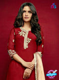 Arihant 15003 Maroon Faux Georgette Party Wear Suit Online
