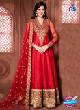 Aanaya 15004 Red Banglori Silk Party Wear Anarkali Suit
