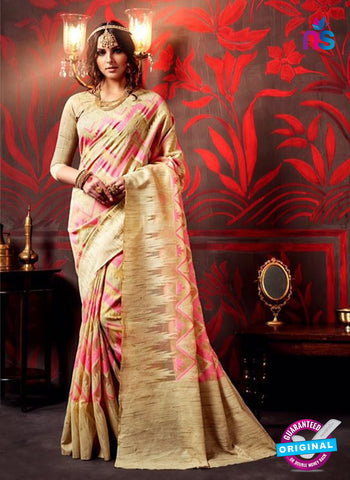 AZ 3631 Beige Cotton Silk Formal Saree