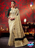 AZ 3632 Beige Cotton Silk Formal Saree