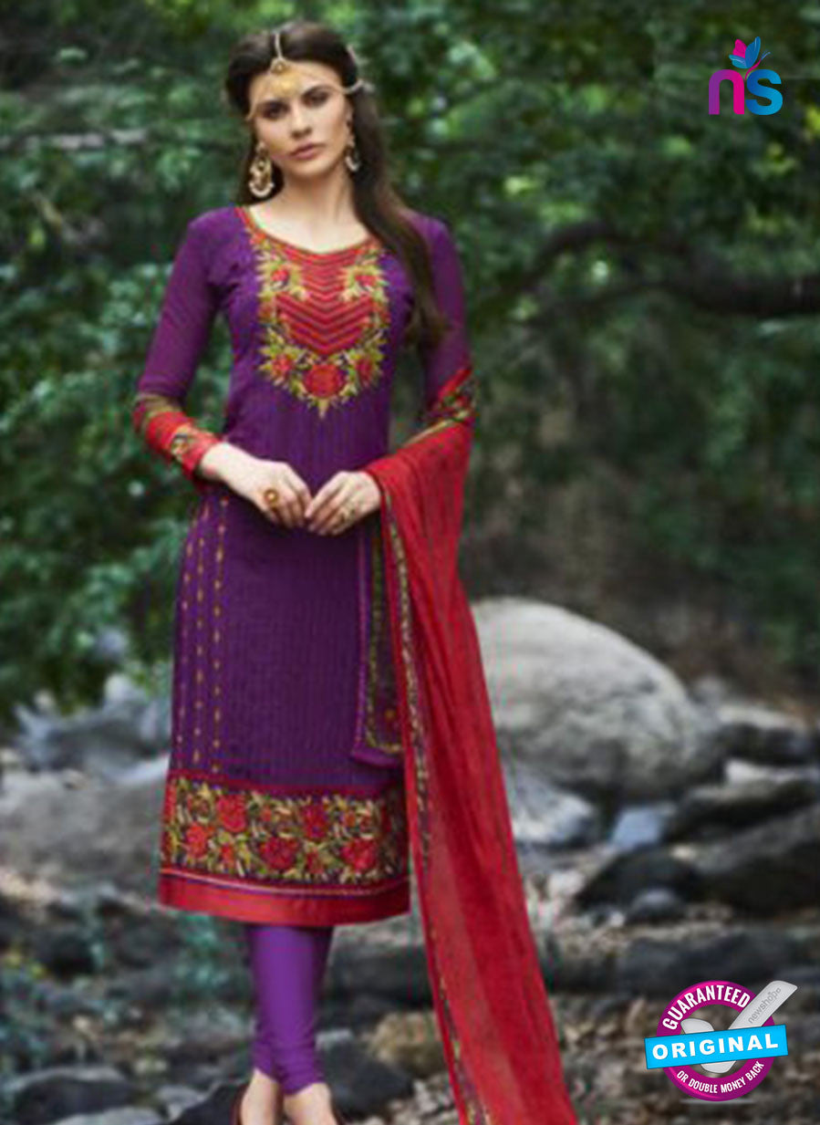 Bellisa 15005 Purple Faux Georgette Party Wear Suit Online