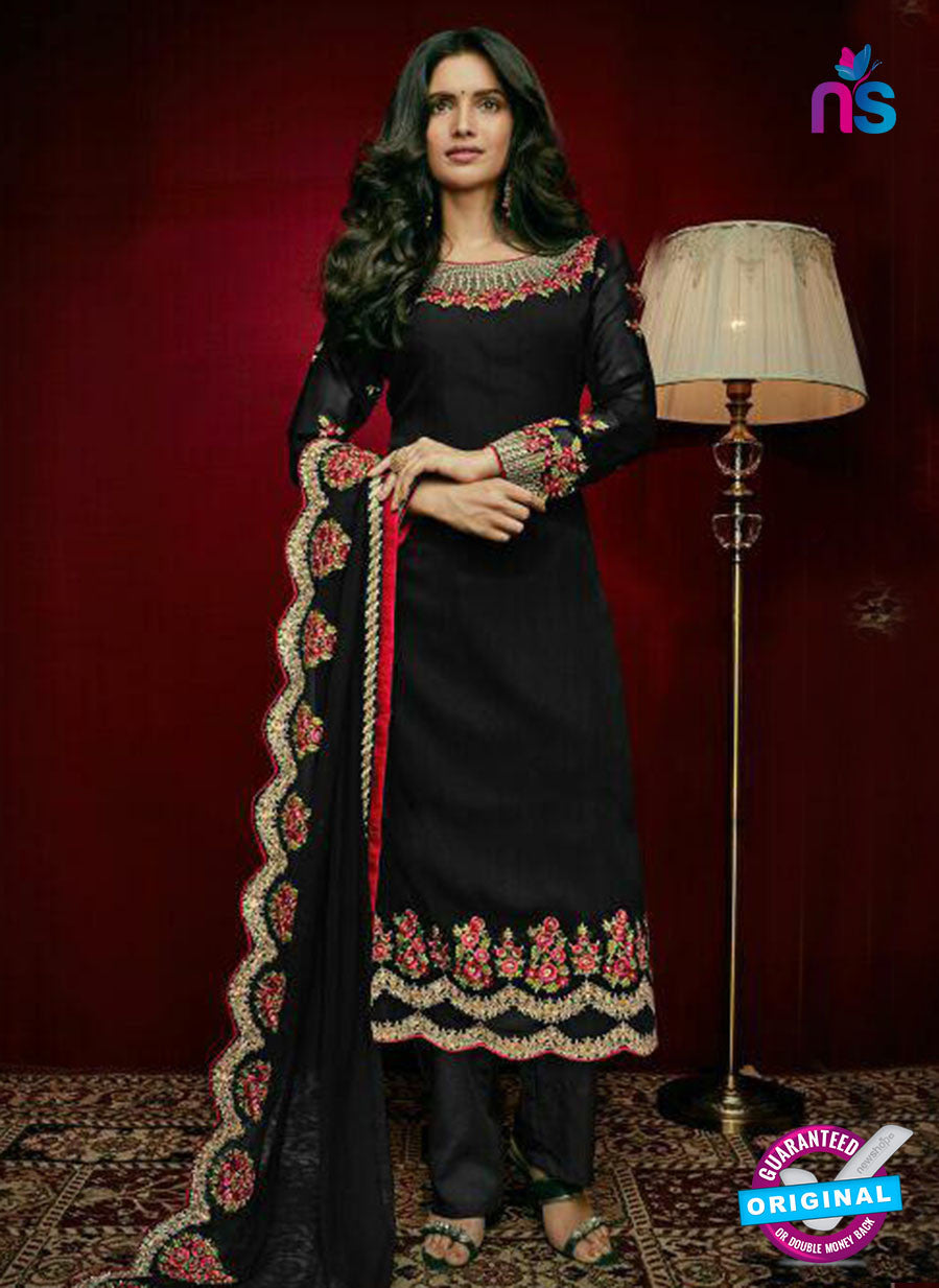 Arihant 15005 Black Faux Georgette Party Wear Suit