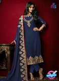 AZ 3807 Blue Faux Georgette Party Wear Suit