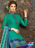 SC 13850 Sea Green Glace Cotton Designer Fancy Exclusive Patiala Suit