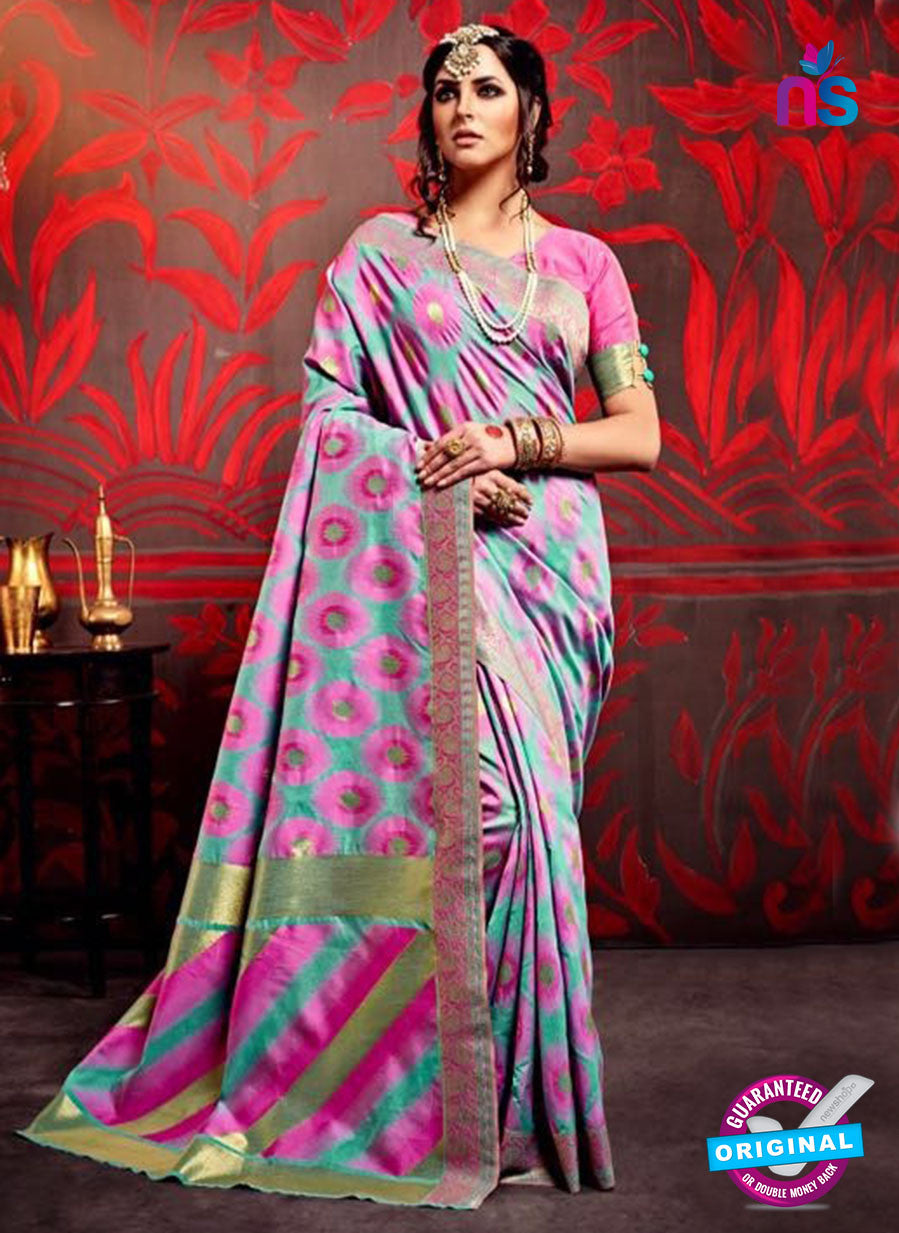 AZ 3635 Sea Green Cotton Silk Formal Saree