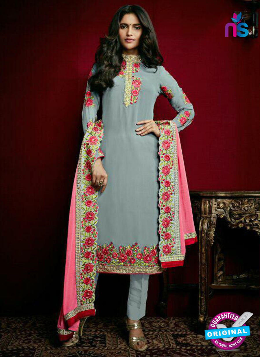 Arihant 15008 Grey Faux Georgette Party Wear Suit