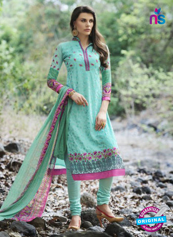 AZ 1070 Sea Green and Pink Faux Georgette Party Wear Suit