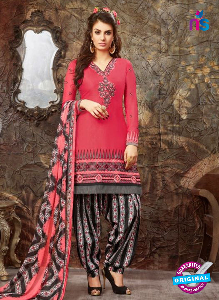 SC 13851 Pink and Black Designer Fancy Exclusive Patiala Suit