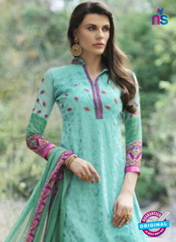 Bellisa 15008 Sea Green and Pink Faux Georgette Party Wear Suit Online