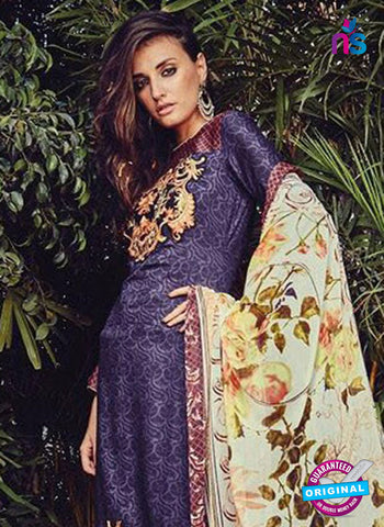 NS10206 Purple and Red Party Wear Glace Cotton Jacquard Pakistani Suit Online