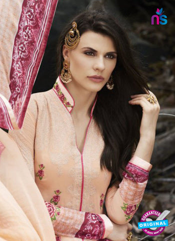 Bellisa 15010 Beige Faux Georgette Party Wear Suit Online