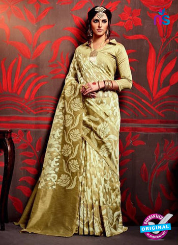 AZ 3637 Mehandi Green Cotton Silk Formal Saree