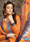 SC 13852 Orange and Multicolor Designer Fancy Exclusive Patiala Suit