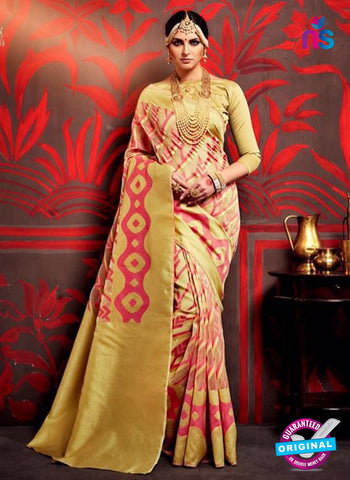 AZ 3639 Beige Cotton Silk Formal Saree