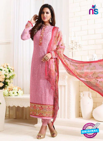 SC 13889 Pink Georgette Latest Designer Function Wear Fancy Long Straight Suit