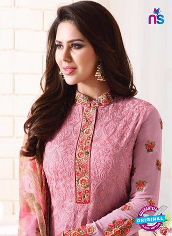 SC 13889 Pink Georgette Latest Designer Function Wear Fancy Long Straight Suit Online