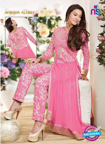 Maskeen 1501 Pink Color Embroidered Georgette Party Wear Suit