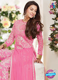 Maskeen 1501 Pink Color Embroidered Georgette Party Wear Suit Online