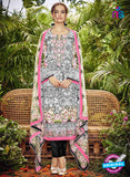 SC 13046 Multicolor and Black Embroidered Original Lawn Pakistani Suit