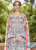 SC 13046 Multicolor and Black Embroidered Original Lawn Pakistani Suit Online