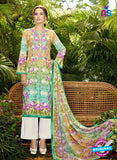 SC 13045 Multicolor and White Embroidered Original Lawn Pakistani Suit