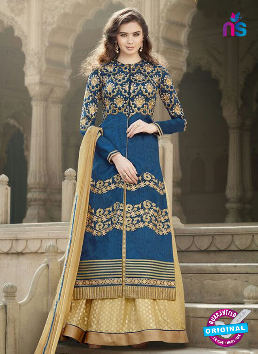SC 12895 Blue and Golden Banglori Silk Party Wear Designer Suit