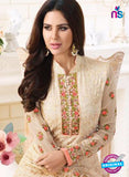 SC 13882 Beige Georgette Latest Designer Function Wear Fancy Long Straight Suit